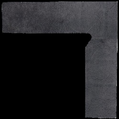 Bazalto Grafit Cokół Schodowy Dwuelementowy Prawy 2x30x8,1