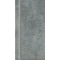 Paradyż  tecniq silver stopnica prosta nacinana mat. 29,8x59,8 g1 szt