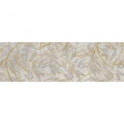 CERRAD gres softcement white decor flower rect. 1197x297x8 g1 m2
