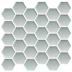 CERAMIKA COLOR platinum glass hexagon mosaic 25x25,8 szt g1
