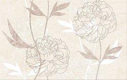 CERSANIT ferrata beige inserto flower 25x40 szt.