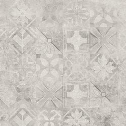 CERRAD gres softcement white decor patchwork rect.  597x597x8 g1 m2
