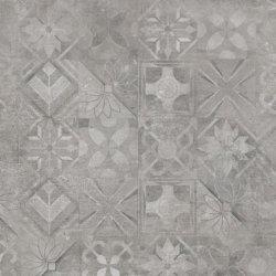 CERRAD gres softcement silver decor patchwork rect. 597x597x8 g1 m2