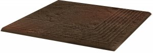 PARADYZ semir brown stopnica narozna 30x30 g1