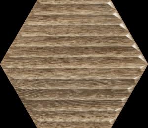 PARADYZ woodskin wood heksagon struktura b sciana 19,8x17,1 g1