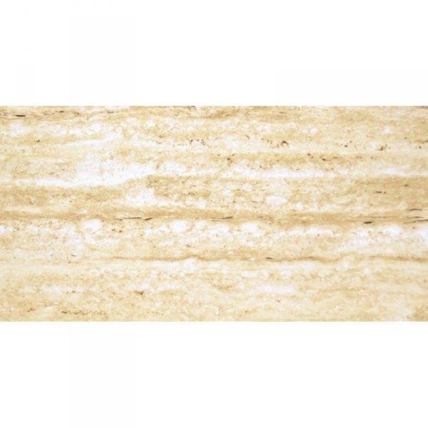 CERAMIKA SANTA CLAUS travertine dark beige shiny (polysk) 30x60 g.1