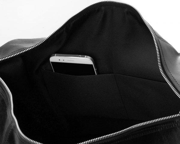 Skórzana torba weekendowa podróżna Solome Premier brązowa detal