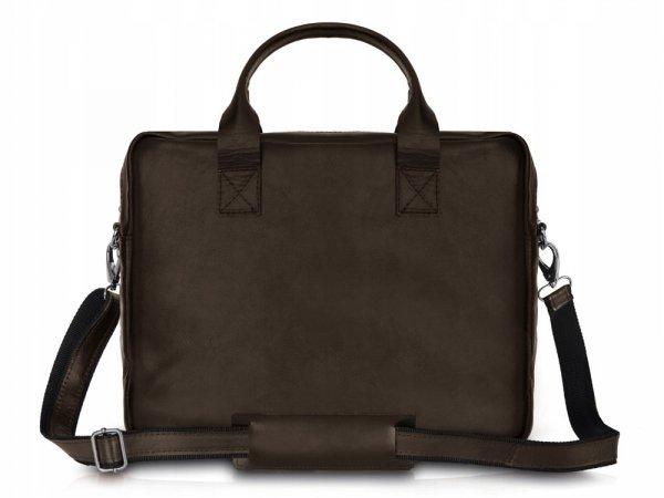 Skórzana torba na laptopa Solome Windsor brązowa tył