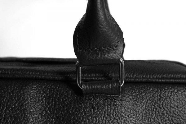 Torba męska na laptop Solome Verona II czarna detal
