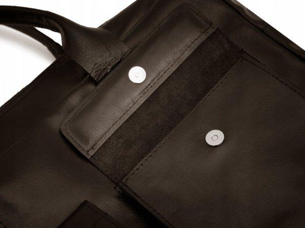 Skórzana torba na laptopa Solome Windsor brązowa detal