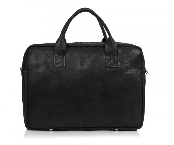 Skórzana torba na laptopa Solome horse ciemno szara tył