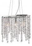 KRYSZTAŁOWA LAMPA WISZĄCA RAIN SP3 IDEAL LUX CHROM Z KRYSZTAŁKAMI GLAMOUR