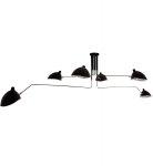LAMPA SUFITOWA WISZĄCA LOFT ITALUX DAVIS MDE610/4+2 CZARNA