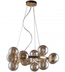 ZŁOTA NOWOCZESNA LAMPA WISZĄCA KULE ITALUX MARBELIO PND-6161-15 GO+CO LAMPA DO SALONU - JADALNI