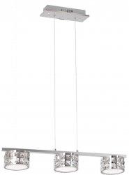 KRYSZTAŁOWA LAMPA WISZĄCA NAD STÓŁ MILAGRO ALEX 3x5W LED ML367 CHROM