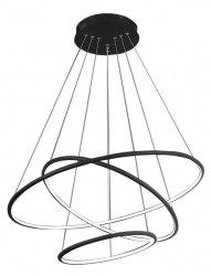 OKRĄGŁA LAMPA WISZĄCA KOŁA MILAGRO ML990 ORION BLACK 99W LED CZARNA BARWA NEUTRALNA 4000K