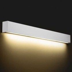 KINKIET LISTWA LED NAD LUSTRO STRAIGHT WALL LED 9611 METALOWY BIAŁY NOWODVORSKI