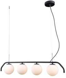 ITALUX CARIMI PND-3300-4-BK LAMPA WISZĄCA SZKLANE KULE NOWOCZESNA CZARNA