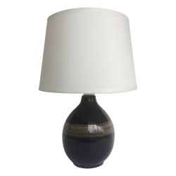 LAMPA STOŁOWA NOCNA ROMA 03206 CZARNA IDEUS