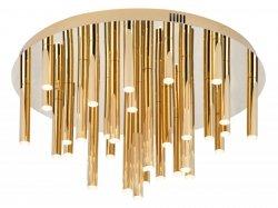 DESIGNERSKA LAMPA SUFITOWA ZŁOTY PLAFON GLAMOUR ORGANIC C0188 MAXLIGHT