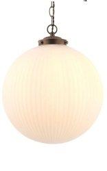 NOWOCZESNA LAMPA SZKLANA KULA ENDON BRYDON 72461