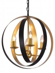 CZARNO ZŁOTA LAMPA WISZĄCA VINTAGE ITALUX KAIA MD-BR16079-D4-B/G