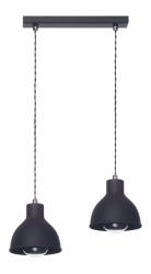 LAMPEX LAMPA WISZĄCA ZOE CZARNA NAD STÓŁ LOFT