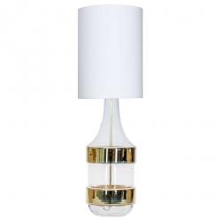 ABAŻUROWA LAMPKA STOJĄCA DO SYPIALNI ZŁOTA BIARITZ L223181335