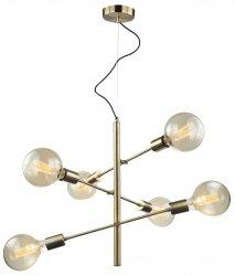 INDUSTRIANA LAMPA WISZĄCA DO SALONU VINTAGE ITALUX MADALYN MDM3582/6 AB LAMPA STICKS MOLEKULARNA