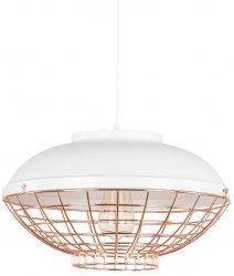 INDUSTRIALNA LAMPA WISZĄCA ITALUX CLAMS MDM-2941/1 GR+COP BIAŁA, MIEDZIANA