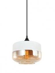 NOWOCZESNA LAMPA WISZĄCA ITALUX MOLINA MDM-2380/1 W+AMB BIAŁA