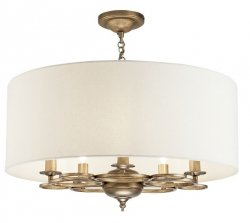 NOWOCZESNA LAMPA SUFITOWA GLAMOUR MAYTONI ANNA H007PL-05G