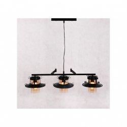 LAMPA SUFITOWA WISZĄCA LUMINA DECO CAPRI TRIO LDP 11328B-3-BK