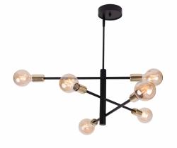 LOFTOWA LAMPA SUFITOWA SIGMA ONYX 6
