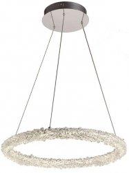 KRYSZTAŁOWA LAMPA WISZĄCA GLACIER 25W LED MILAGRO ML3701