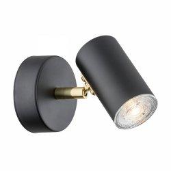 LAMPA SUFITOWA SPOT REFLEKTOR CZARNO-ZLOTY GU10 ARGON LAGOS 4210 KINKIET REGULOWANY