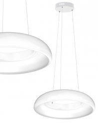BIAŁA LAMPA WISZĄCA LED MILAGRO RONDO BIANCO 36W ML319