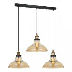 LAMPA WISZĄCA NAD STÓŁ LOFT ITALUX HUBERT MDM-2381/3 GD+AMB