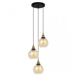 LAMPA WISZĄCA ITALUX CARDENA MDM-4330/3 GD+AMB