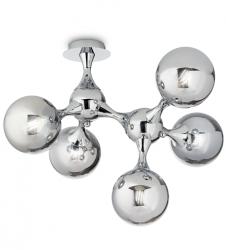 LAMPA SUFITOWA PLAFON IDEAL LUX NODI PL5 200484 DESIGNERSKI CHROM