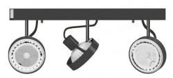 LAMPA SUFITOWA SPOT CROSS GRAPHITE 9596 NOWODVORSKI
