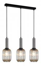 NOWOCZESNA SZKLANA LAMPA WISZĄCA ITALUX ANTIOLA PND-5588-3M-SC+AMB DESIGNERSKA LOFT