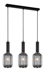 NOWOCZESNA SZKLANA LAMPA WISZĄCA ITALUX ANTIOLA PND-5588-3M-BK+SG DESIGNERSKA LOFT