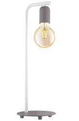 PASTELOWA LAMPKA STOŁOWA NOCNA EGLO ADRI-P 49116 SZARA LOFT VINTAGE