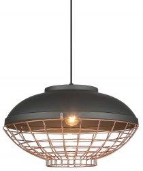 INDUSTRIALNA LAMPA WISZĄCA ITALUX CLAMS MDM-2941/1 GR+COP CZARNA, MIEDZIANA