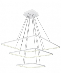 NOWOCZESNA LAMPA WISZĄCA KWADRATY NIX WHITE 117W LED BIAŁA MILAGRO ML515 BARWA CIEPŁA 3000K