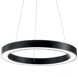 CZARNA LAMPA WISZĄCA OKRĄG IDEAL LUX ORACLE ROUND D60 NERO 222103 NOWOCZESNA RING LED