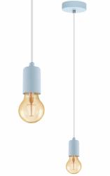 PASTELOWA LAMPA WISZĄCA EGLO 49018 ZWIS NA ŻARÓWKĘ NIEBIESKI  LOFT VINTAGE