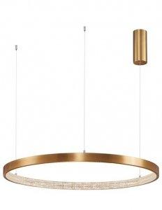 LAMPA WISZĄCA LED W KSZTAŁCIE OKRĘGU 80cm NOWOCZESNA LAMPA KOŁO ANYCZNY MOSIĄDZ PRESTO