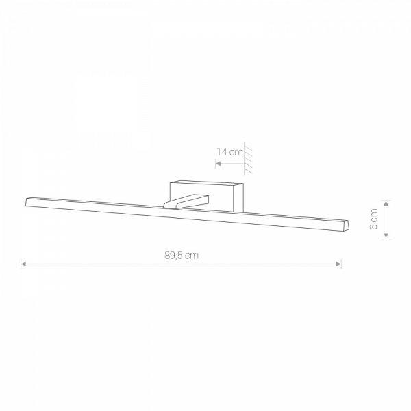 NOWODVORSKI VAN GOGH L 9175 LAMPA ŚCIENNA KINKIET ŁAZIENKOWY BIAŁY NAD LUSTRO OBRAZ